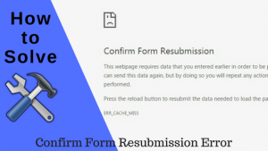 Fix The Confirm Form Resubmission Error
