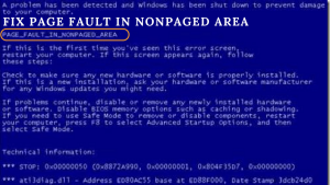 How to Fix Page Fault in NonPaged Area in Windows 7, 8, 10