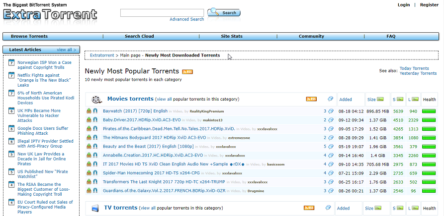 ExtraTorrent Proxy - 40 ExtraTorrents Unblocked Mirror Sites List
